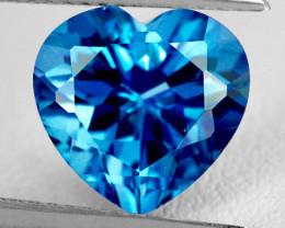 7.00 mm Heart 1.22ct London Blue Topaz [VVS]
