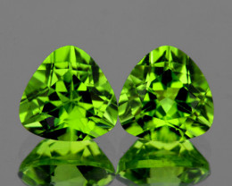 6.00 mm Trillion 2 pcs 1.72cts Green Peridot [VVS]