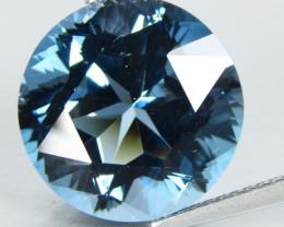 13.41Cts Sparkling Natural London Blue Topaz Round precision Cut Loose Gem