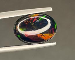 Natural Ethiopian Opal 3.58 Cts Smoked Black