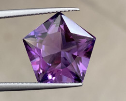 Natural Amethyst 7.58 Cts Excellent Fancy Cut Gemstone
