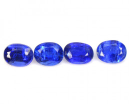 Kyanite 1.00 Cts 4 Pcs Fancy Royal Blue Color Natural Gemstone
