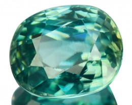 ~SHIMMERING~ 2.23 Cts Natural Greenish Blue Zircon Oval Cut Cambodia