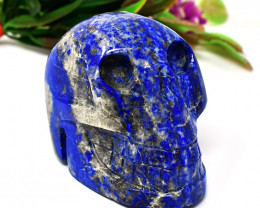 Genuine 1636.00 Cts Lapis Lazuli  Hand Carved Skull
