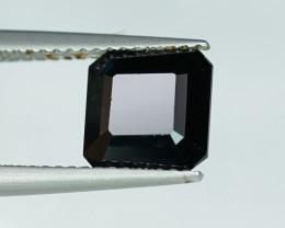 3.16CT 8mm BRIGHT NATURAL BLACK SPINEL $1NR!