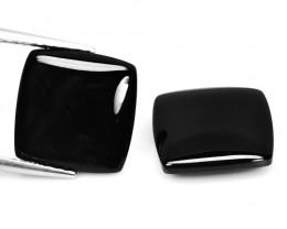 Black Onyx 5.43 Cts 2 Pcs Natural Loose Gemstone