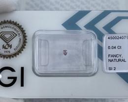 Fancy Purple Pink Diamond IGI CERTIFIED Sealed SI2 Pear Teardrop Cut Rare