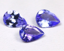 Tanzanite 1.71Ct VS Pear Cut Natural Purplish Blue Tanzanite Lot B1811