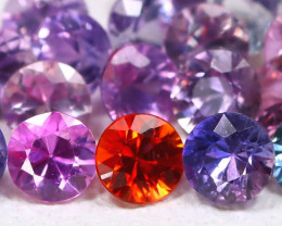 2.10Ct Round 2.6mm Natural Untreated Pink Color Sapphire Lot C1809