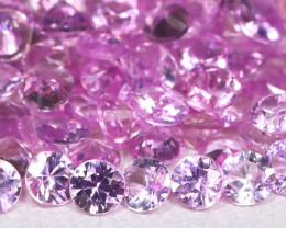 5.09Ct Round 2.1mm Natural Untreated Pink Color Sapphire Lot C1812