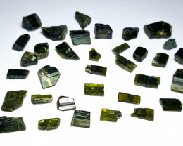 Amazing Natural color gemmy quality rough Epidote lot 100Cts-GN3