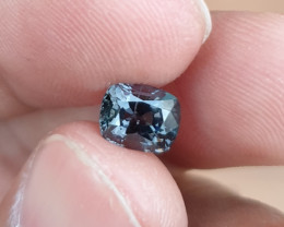 UNHEATED 1.47 CTS NATURAL BEAUTIFUL GREYISH PURPLE COLOR SPINEL MOGAK BURMA