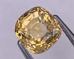 2.48 Cts Srilanka Unheated Top Grade Golden Yellow Sapphire Certified
