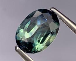 1.66 Cts Certifed AAA Quality Rare Greenish Blue Sapphire