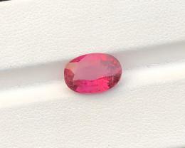 3.70 Carats Natural Rubellite Tourmaline Cut Stone