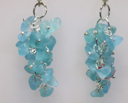 47.70 CTS APATITE EARRINGS NEON BLUE UNTREATED LT-1040