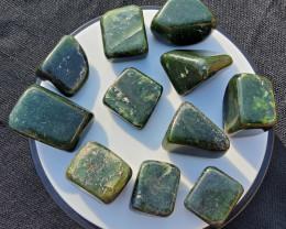 GREEN JADE THUMBLED