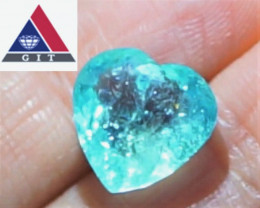 NEON BLUE! PARAIBA! Cert. Unheated 6.00 CT Tourmaline $3,750