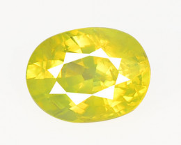 Chrysoberyl 1.02 Cts Very Rare Yellowish Green Color Natural Gemstones
