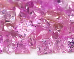 5.39Ct Princess 2.3mm Natural Untreated Pink Color Sapphire Lot A1911