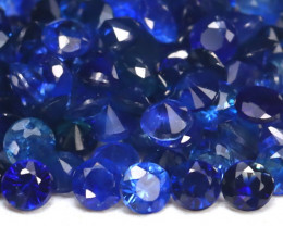 3.17Ct Calibrate 1.4mm Round Natural Blue Color Sapphire Lot A1913