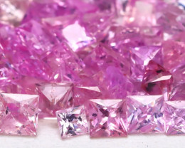 5.29Ct Princess 2.4mm Natural Untreated Pink Color Sapphire Lot A1914