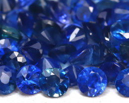 3.57Ct Calibrate 2.1mm Round Natural Blue Color Sapphire Lot A1915