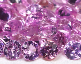 4.62Ct Calibrate 2.3mm Round Natural Untreated Pink Sapphire Lot A1917