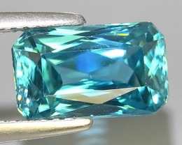 5.20 CTS AWESOME SPARKLE NATURAL RARE BEST BLUE ZIRCON~EXCELLENT!
