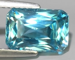 4.35 CTS AWESOME SPARKLE NATURAL RARE BEST BLUE ZIRCON~EXCELLENT!