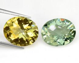 8.05 Cts 2 Pcs Natural Mix Color Fancy Loose Gemstones