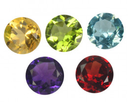 Fancy Gemstones 4.10 Cts 5 Pcs Natural Mix Color