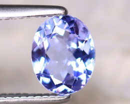 Tanzanite 0.80Ct Natural VVS Purplish Blue Tanzanite E2215/D3