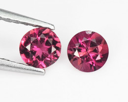 Tourmaline 0.38 Cts 2 Pcs Natural  Pink Loose Gemstone