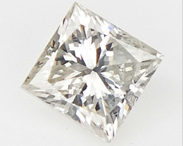 0.20 CTS , Princess Cut Diamond , Rare Natural Diamond , off white diamond