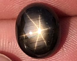 8.06cts, Star Sapphire,   Unheated,  Untreated,  Black Star