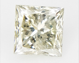 0.19 cts , Princess Cut Diamond , Rare Natural Diamond