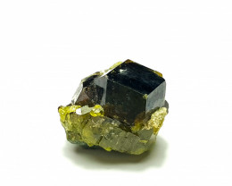 Stunning Damage free Natural  Cute Garnet combine with Epidote 22Cts-A