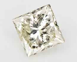 0.18 cts , Princess Cut Diamond , Rare Natural Diamond