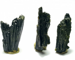 Amazing Natural color Damage free tree Shape lovely Epidote 3 crystals 45Ct