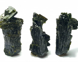 Amazing Natural color Damage free tree Shape lovely Epidote 3 crystals 48Ct