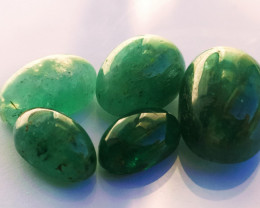 5 Emeralds - 27.35 cts - Brazil - Untreated