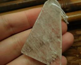 Gemstone clear quartz pendant bead (G2632)