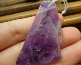 Gemstone amethyst pendant bead (G2632)