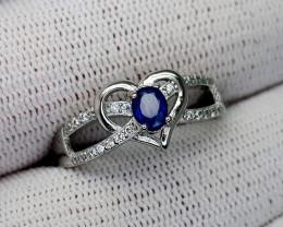 15CT BLUE SAPPHIRE 925 SILVER RING 9 BEST QUALITY GEMSTONE IIGC35