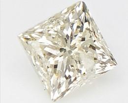 0.24 cts , Princess Cut Diamond , Rare Natural Diamond