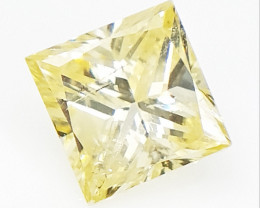 0.21 CTS, Princess Brilliant Cut , Light Colored Diamond