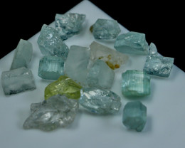 NR!! 51.10 CTs Natural & Unheated~ Blue Aquamarine Rough Lot