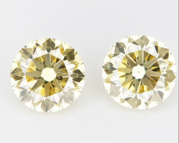 2/ 0.43 CTS , Round Brilliant Cut , Light Colored Diamond