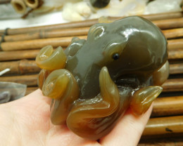 Agate Octopus Decoration Gift (D0281)